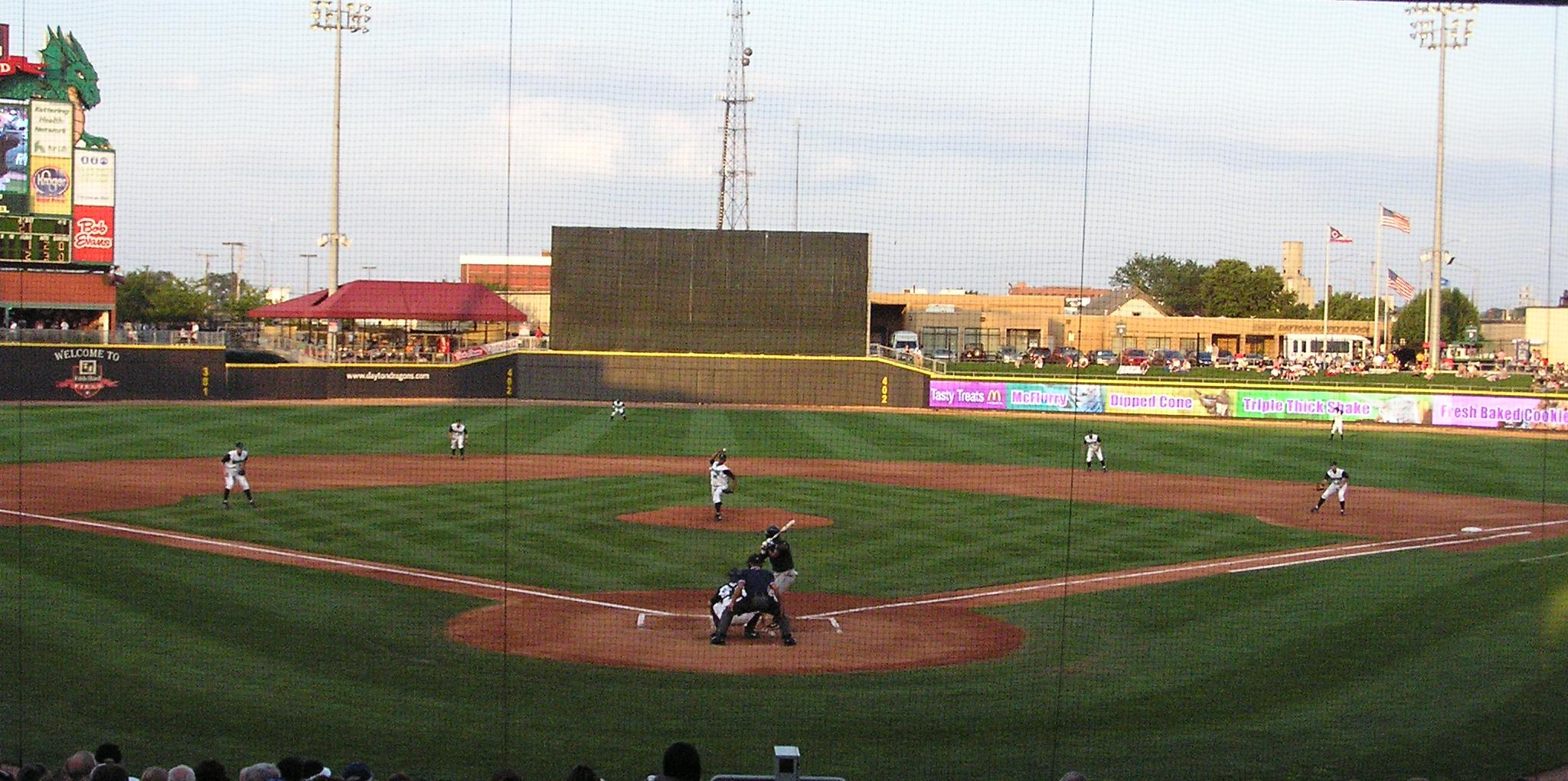Game Action - Fifth Third Field - Dayton Ohio