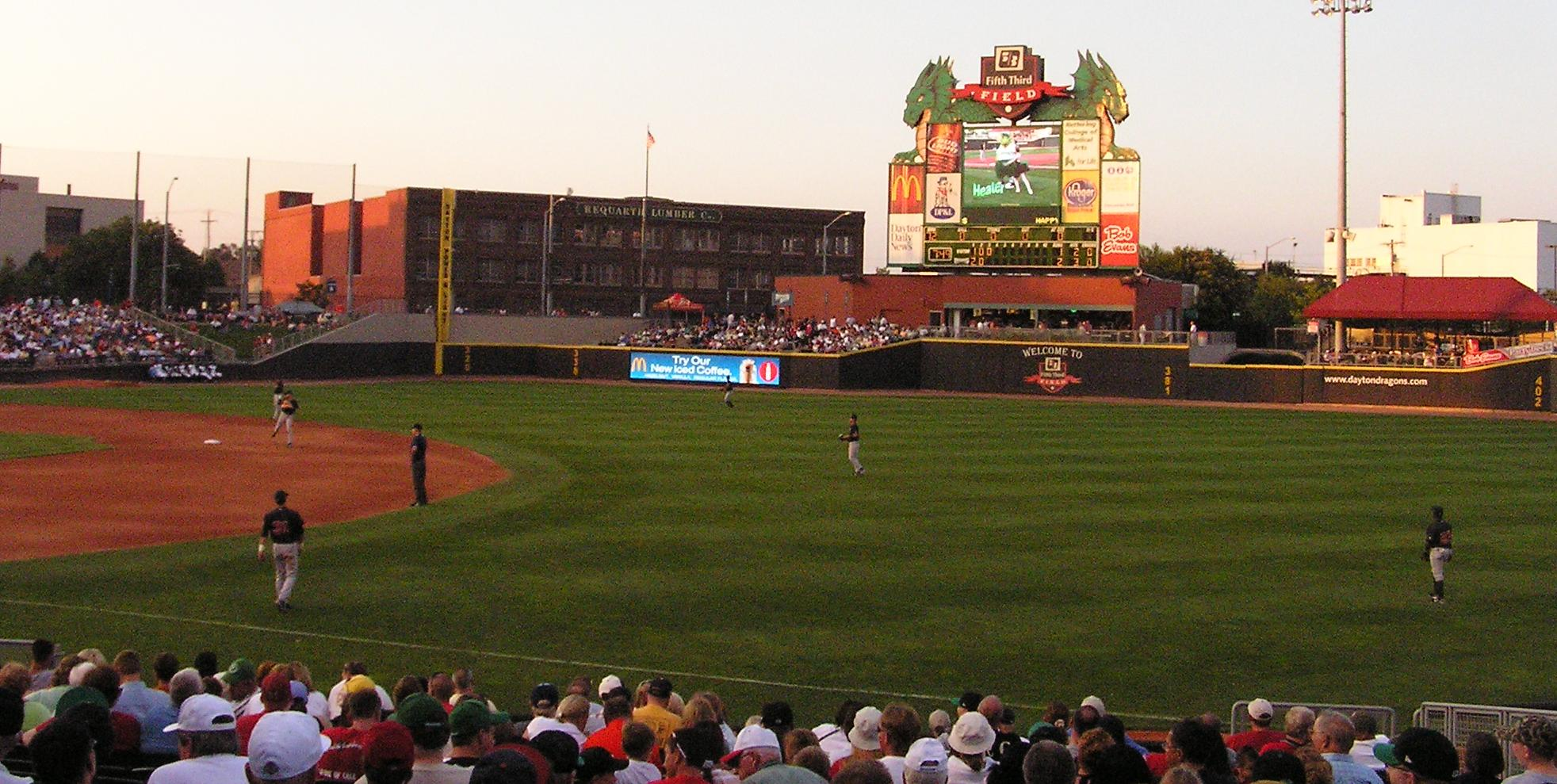 Looking towards LF in Dayton - Fifth Third Field