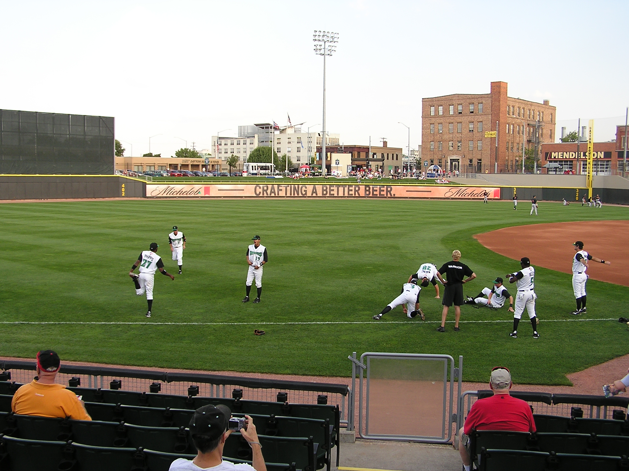 Pre-Game stretching - Fifth Third Field