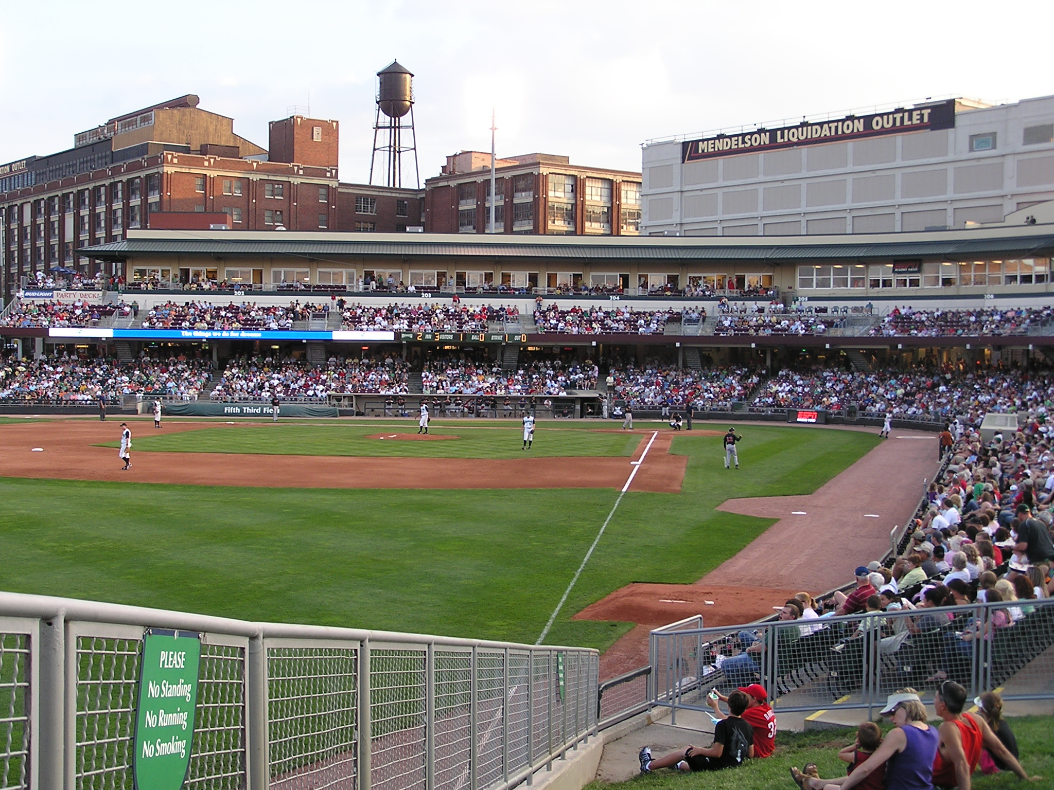 Looking in from LF at Fifth Third Field - Dayton