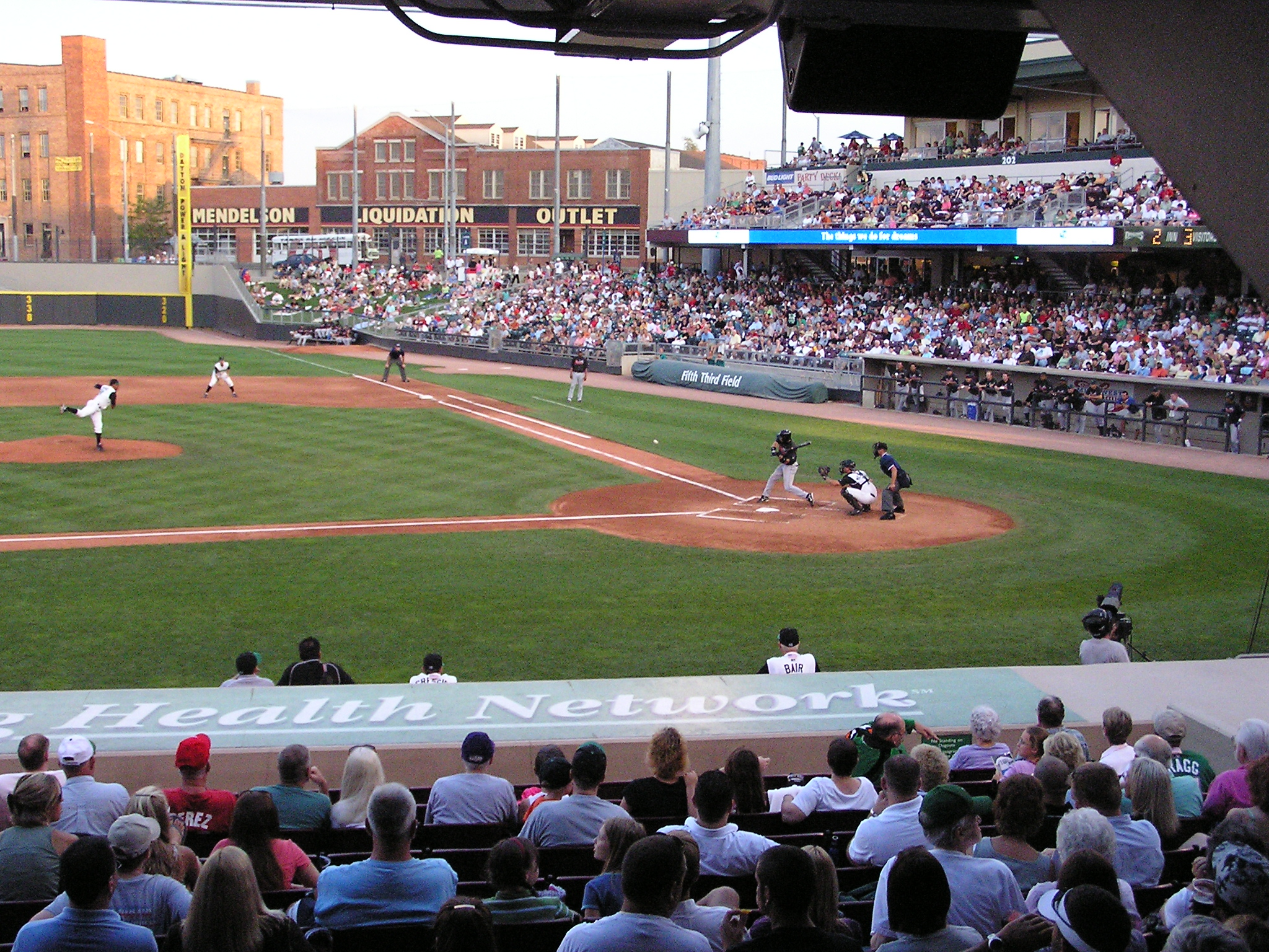 A view in Dayton from the third base side